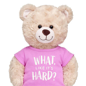 "Online Exclusive ""What, Like It's Hard?"" T-Shirt - Build-A-Bear Workshop®"