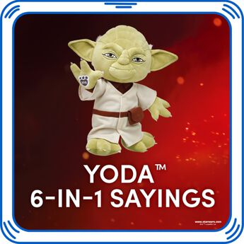 Add the Force to any furry friend with Yoda's signature sayings.© & ™ Lucasfilm Ltd.