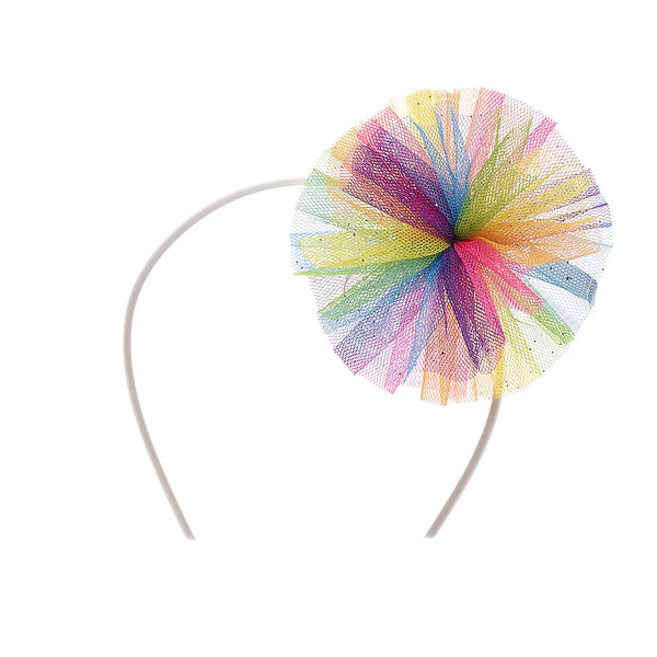 Add some flair to match your furry friend's colorful personality! This rainbow tulle headband provides a fun pop of color! Personlize a furry friend to make the perfect gift. Shop online or visit a store near you!