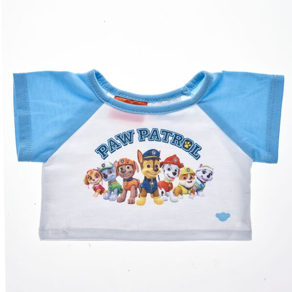 PAW Patrol, ready for action! Dress your favourite furry friend in this super cool PAW Patrol T-shirt. This white and blue tee features the entire PAW Patrol team and makes a perfect gift for any PAW Patrol fan. © 2017 Spin Master PAW Productions Inc. All Rights Reserved. PAW Patrol and all related titles, logos and characters are trademarks of Spin Master Ltd. Nickelodeon and all related titles and logos are trademarks of Viacom International Inc.