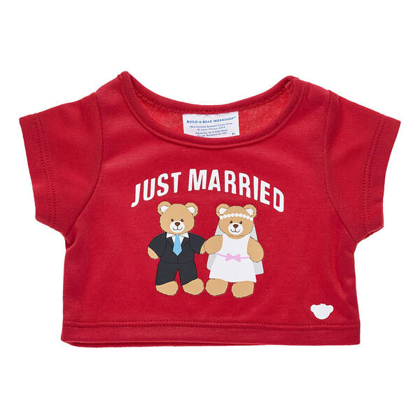 Online Exclusive Just Married T-Shirt - Build-A-Bear Workshop®