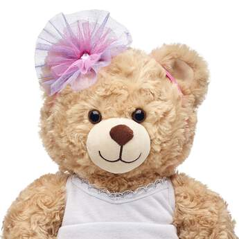 This pink headband for stuffed animals has a sparkly tulle flower on the side. Outfit a furry friend online to make the perfect gift. Make your own your own stuffed animal online with our Bear Builder or visit a store near you.