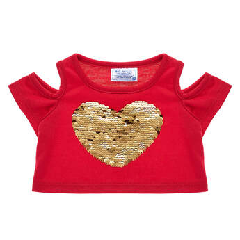 Red Flip Sequin Heart Top - Build-A-Bear Workshop®