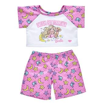 Barbie™ has always inspired girls to dream big! Your furry friend can join the fun when they drift off to sleep in this cute pair of Barbie™ PJs. Personalise a furry friend to make the perfect gift. Shop online or visit a store near you!