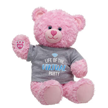 Online Exclusive Pink Cuddles Teddy Virtual Party Gift Set, , hi-res