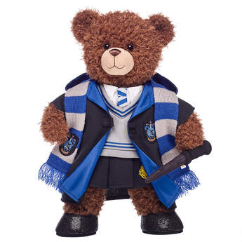 Harry Potter Bear Ravenclaw Gift Bundle with House Robe, Scarf, Hogwarts Skirt & Wand, , hi-res