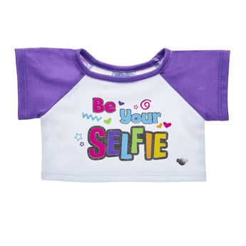 This fun tee shirt for teddy bears has a paw-sitive reminder to always be yourself. Outfit a furry friend online to make the perfect gift. Make your own your own stuffed animal online with our Bear Builder or visit a store near you.
