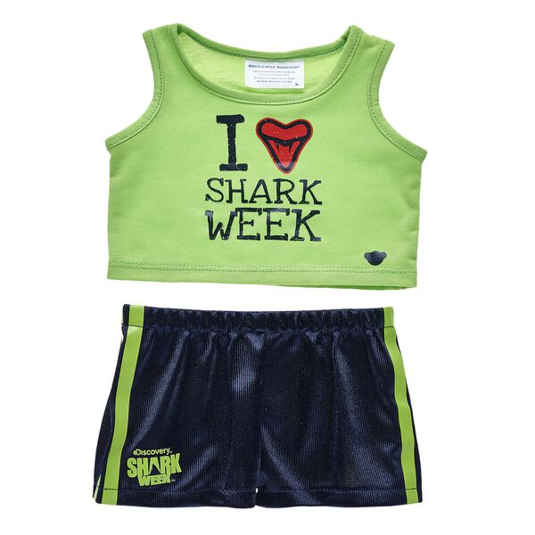 I Love Shark Week Tank & Short Set 2 pc., , hi-res