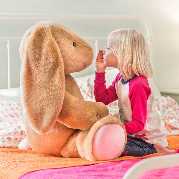 Give Jumbo Hugs with Pawlette! This jumbo stuffed bunny measures 3 feet, and can be personalized with embroidery!  Make your own Easter fun at Build-A-Bear Workshop! Customize your furry friend with unique clothing & accessories to make the perfect gift.