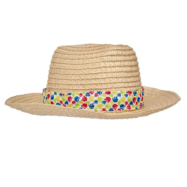 This teddy-bear sized straw hat is perfect for frolicking in the sun! Outfit a furry friend online to make the perfect gift. Free Shipping on orders over $45.