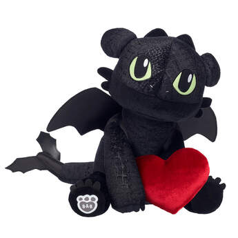 toothless how to train your dragon valentines day gift set with plush heart