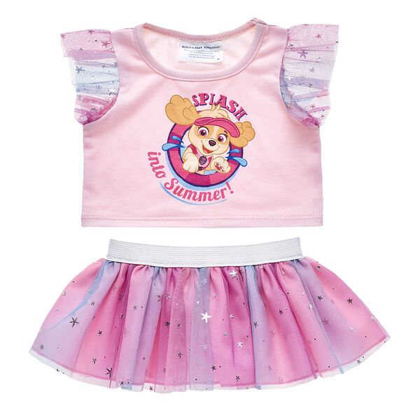 Splash into summer with this pink plush toy outfit featuring Skye from PAW Patrol! Outfit a furry friend online to make the perfect gift. Make your own your own stuffed animal online with our Bear Builder or visit a store near you.