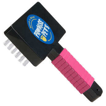 Brush & fluff all that fur with this Pink Brush! Your Promise Pet will love all the attention and care.
