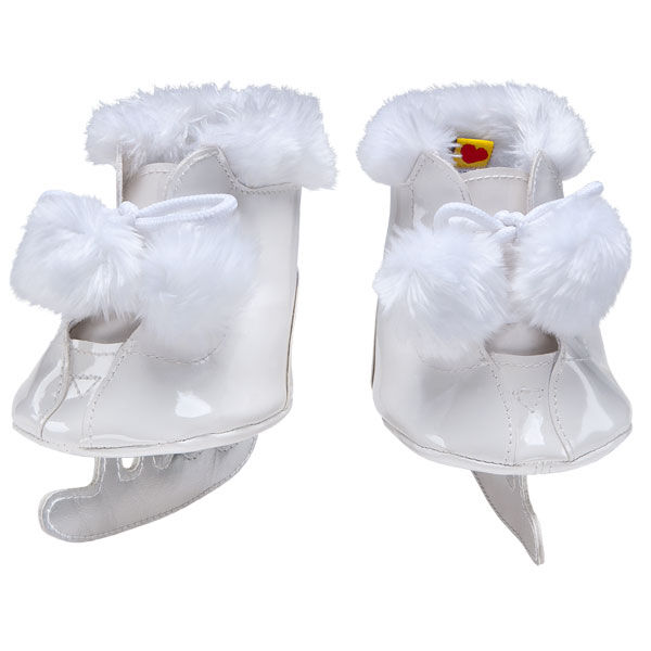 White Pom Ice Skates, , hi-res