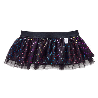 Whether your furry friend has a passion for ballet or just likes to twirl and dance for fun, this sparkly tutu is the perfect outfit. This black tutu features an all-over pattern of sparkly rainbow dots and has a trim of black tulle at the bottom. Give your furry friend a touch of glamour with this cute tutu!