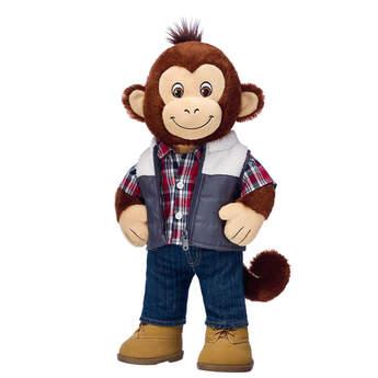 Smiley Monkey Puffer Vest Gift Set, , hi-res