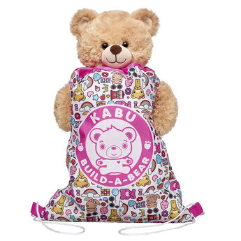 Take your furry friend with you wherever you go in this reusable drawstring backpack! It's great for your Kabu pal's clothing, accessories, games and more! Shop online or in store at Build-A-Bear Workshop!