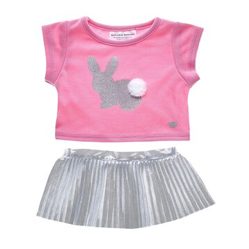 This 2 pc. Easter Bunny Skirt set is as cute as can be! Build-A-Bear Workshop offers hundreds of unique stuffed animal clothing & accessory options you won't find anywhere else. Outfit a furry friend online to make the perfect gift!