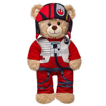Dress your furry friend in a pilot Poe Dameron™ costume from Star Wars: The Force Awakens. This teddy bear size costume includes the suit and hood. © &™ Lucasfilm Ltd.
