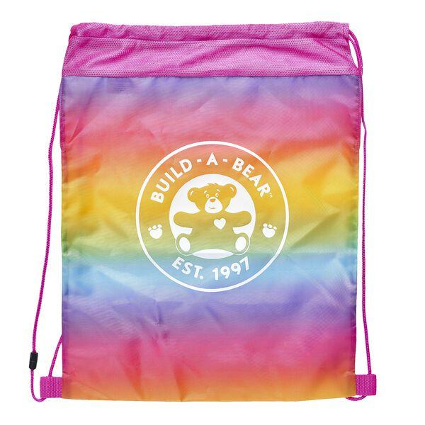 Rainbow Reusable Drawstring Backpack, , hi-res