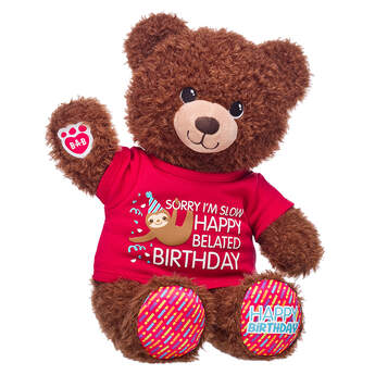 Birthday Treat Bear Belated Birthday Gift Set, , hi-res