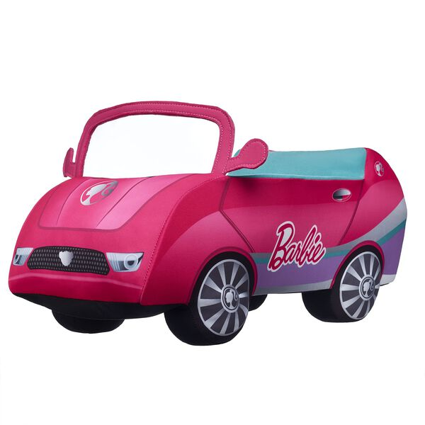 Embark on exciting adventures when you put your Barbie™ Bear behind the wheel of her very own pink convertible! With an open roof and the official Barbie™ logo on the side, the playtime possibilities are endless with this cool plush car. Shop online or visit a store near you!