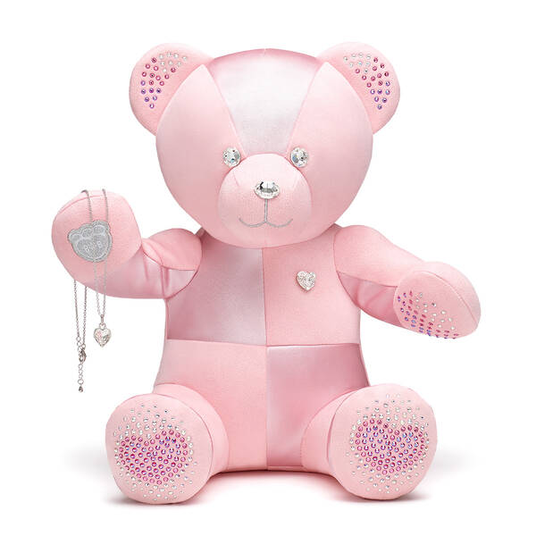 Online Exclusive From the Heart Build-A-Bear Collectible Dazzling with Swarovski® crystals and Heart Stone Pendant Silver Necklace, , hi-res