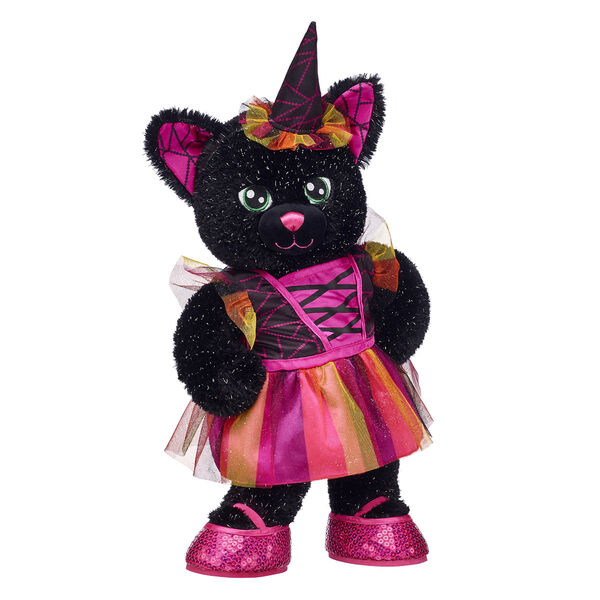 On the prowl for the PURRfect Halloween gift? Night Magic Kitty is here to cross your path! This sparkly black kitty stuffed animal is bewitchingly cute in its colourful witch costume.