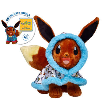 Online Exclusive! Add Eevee to your Pokémon collection! The amazingly adaptive Eevee creature from Pokémon evolves into many different Pokémon depending on its environment. Plus, Eevee comes in an exclusive Pokémon cape - not sold in stores - a Pokeball Sleeper, and Eevee's signature sounds.  © 2016 Pokémon. © 1995–2016 Nintendo/Creatures Inc./GAME FREAK Inc. TM, ©, and character names are trademarks of Nintendo.