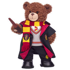 Harry Potter Bear Gryffindor Gift Set with House Robe, Scarf, Hogwarts Pants & Wand, , hi-res