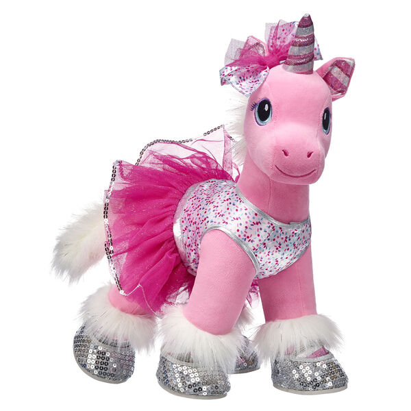 A legendary northern unicorn beloved by all, Swirl sprouted her magical candy cane horn after journeying through the Candy Cane Forest! This adorable stuffed animal gift set is sure to remind them of the magic of Christmas every time they give it a hug. Swirl comes in her sparkly signature outfit with her glittery unicorn food bowl, too. Give them an enchanting gift from their Wish List with this adorable unicorn gift set!