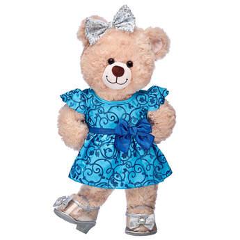 Happy Hugs Teddy Blue Sparkle Gift Set, , hi-res