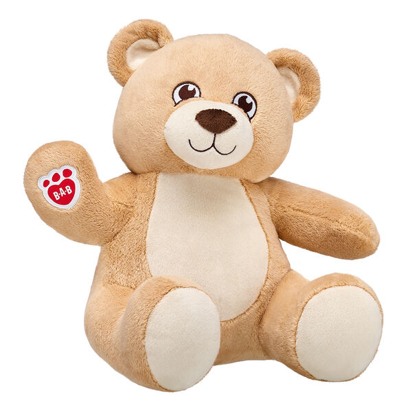 With super soft fur and a warm loving smile, Velvet Hugs Teddy is sure to be your forever friend. This light brown teddy bear can be dressed in a wide variety of outfits to make the perfect unique gift! This light brown teddy bear meets asthma and allergy friendly standards according to the Allergy Foundation of America, making it the perfect gift for a little one!