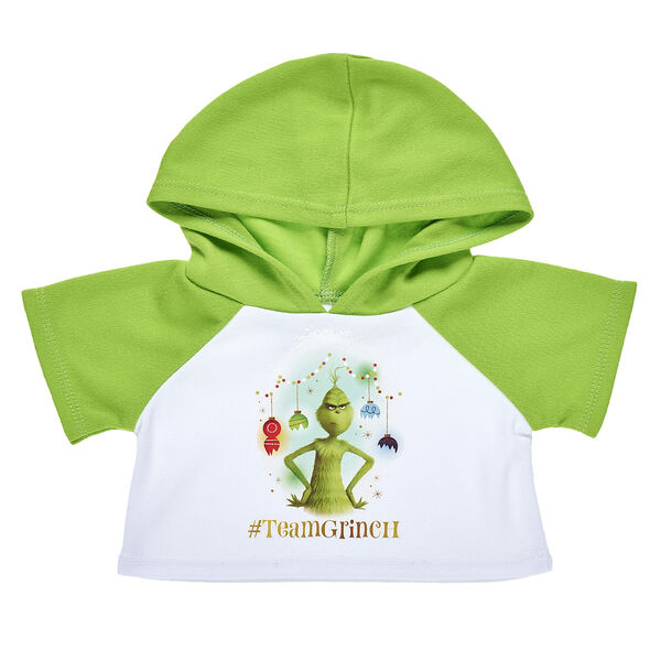 There's a little bit of Grinch in all of us, so let everyone know your furry friend is #TeamGrinch with this festive hoodie! This bear-sized hoodie is the perfect style choice for anyone thinking Grinchy thoughts this Christmas. The movie Dr. Seuss' The Grinch © 2018 Universal Studios. Based on How the Grinch Stole Christmas! Book and characters ™ & © 1957 Dr. Seuss Enterprises, L.P. All Rights Reserved.