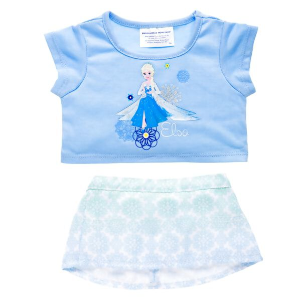 Bring home the magic of Disney Frozen with this wintery blue skirt set for your furry friend, featuring Elsa. © Disney