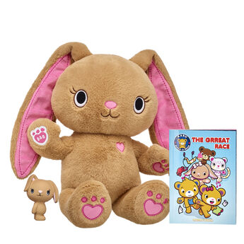 """Talk about a PAWsitively awesome gift set! This Kabu stuffed animal gift set includes Pawlette, a Pawlette Squishy and a copy of the Kabu graphic novel """"""""The Grreat Race."""""""" It's a complete gift set for any Kabu fan in your life!  <p>Price includes:</p>  <ul>    <li>Kabu™ Pawlette</li>     <li>Kabu™ Pawlette Squishy </li>    <li>Kabu™ """"""""The Grreat Race"""""""" Graphic Novel</li> </ul>"""