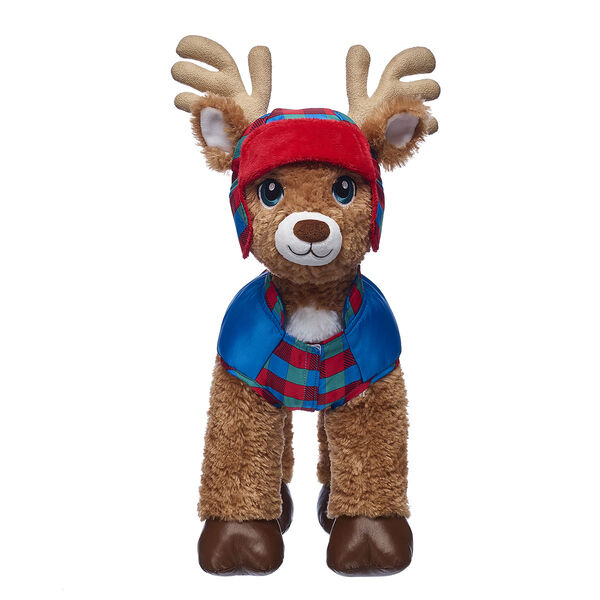Reindeer Puffer Coat & Hat Set 2 pc., , hi-res