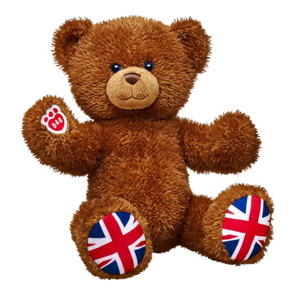 Posable Union Jack Bear, , hi-res