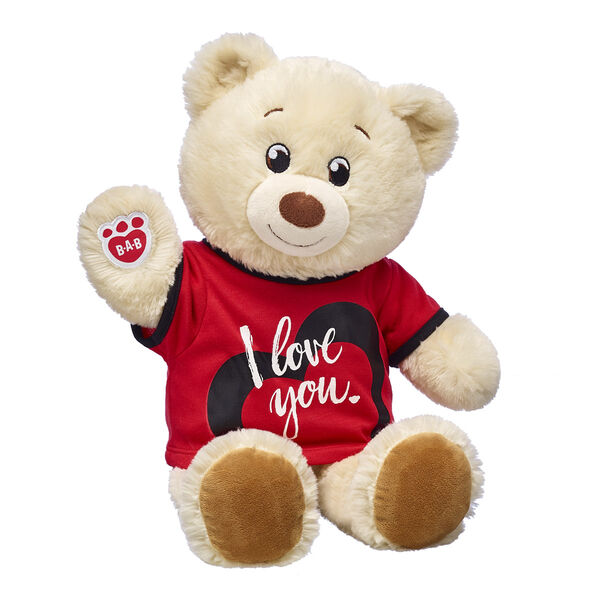 creme teddy bear with i love you t shirt valentines day gift bundle