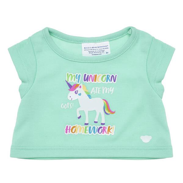 Online Exclusive Unicorn Homework T-Shirt - Build-A-Bear Workshop®