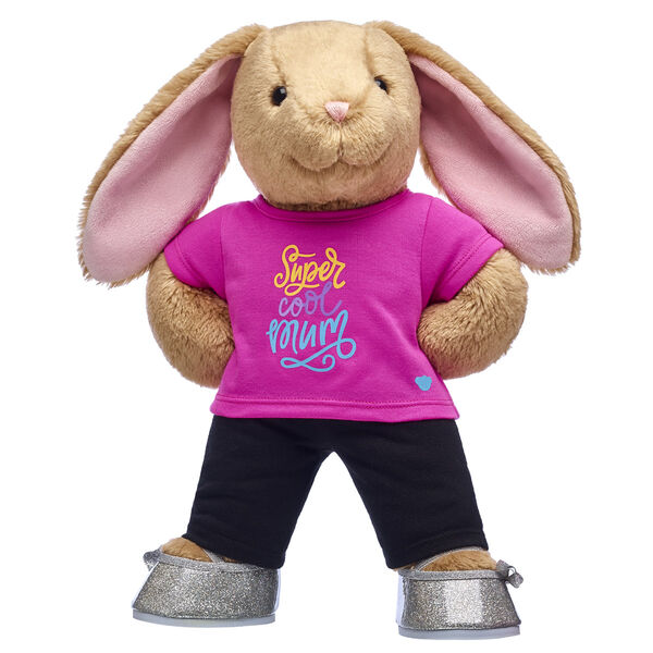 Bunny Stuffed Animal Gift Set with Pink Mothers Day T-Shirt