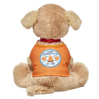 Time for some fun around the campfire! All four-legged friends are invited to have fun at Camp Promise Pets. This orange tee has the official camp logo on the back. Personalise a furry friend to make the perfect gift. Shop online or visit a store near you!