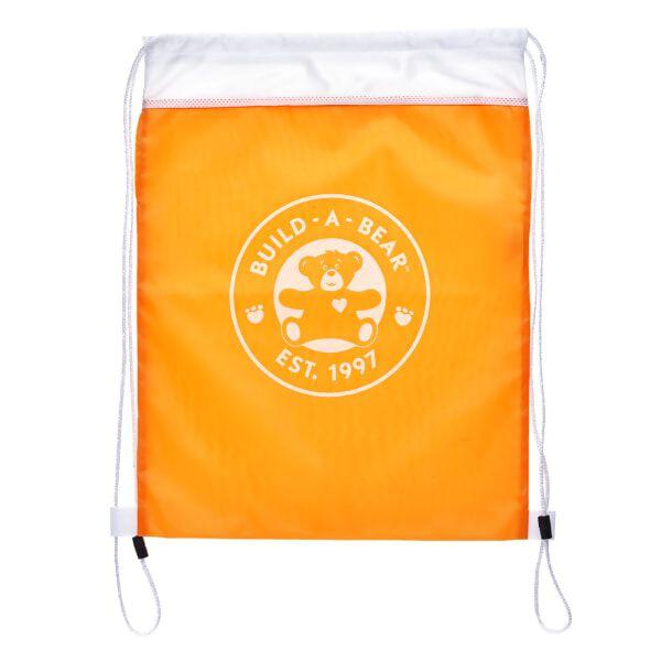 Orange Reusable Drawstring Backpack, , hi-res