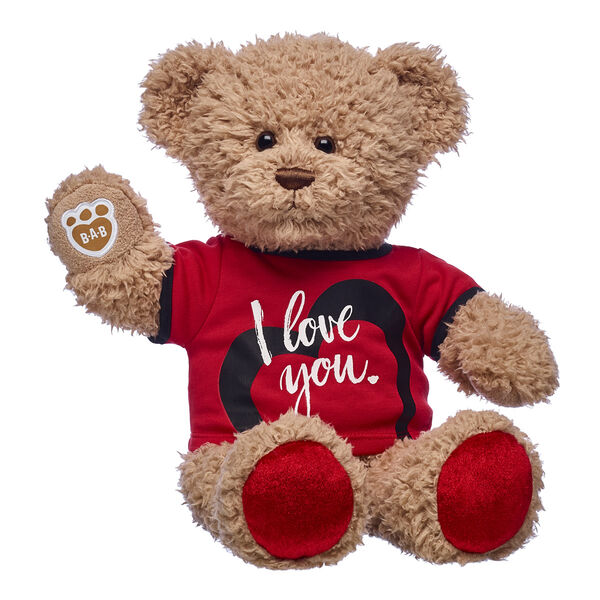 teddy bear with i love you t shirt valentines day gift set