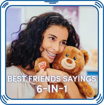 Celebrate all things friendship when you add these fun 6-in-1 sayings to your furry friend! Your furry friend will give a cheerful greeting whenever you press its paw!