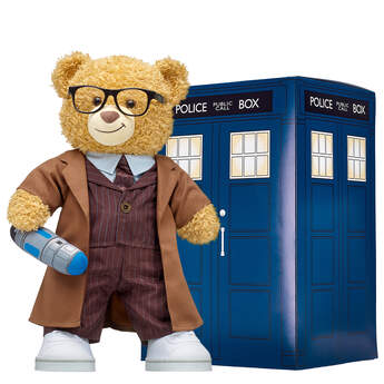 Online Exclusive Doctor Who Bear Tenth Doctor TARDIS Gift Set, , hi-res
