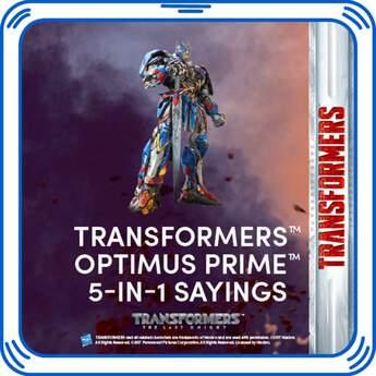 Transformers™ Optimus Prime™ 5-IN-1 Sayings - Build-A-Bear Workshop®