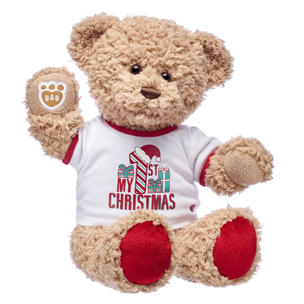 CeleBEARate baby's first Christmas with Timeless Teddy! This classic teddy bear is a cuddly way to commemorate all the special memories of a child's very first Christmas. It's a gift they'll cherish for years to come!