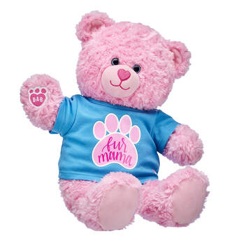 Online Exclusive Pink Cuddles Teddy Fur Mama Gift Set, , hi-res