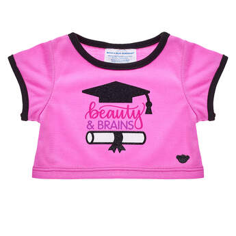 Online Exclusive Beauty & Brains Graduation T-Shirt - Build-A-Bear Workshop®